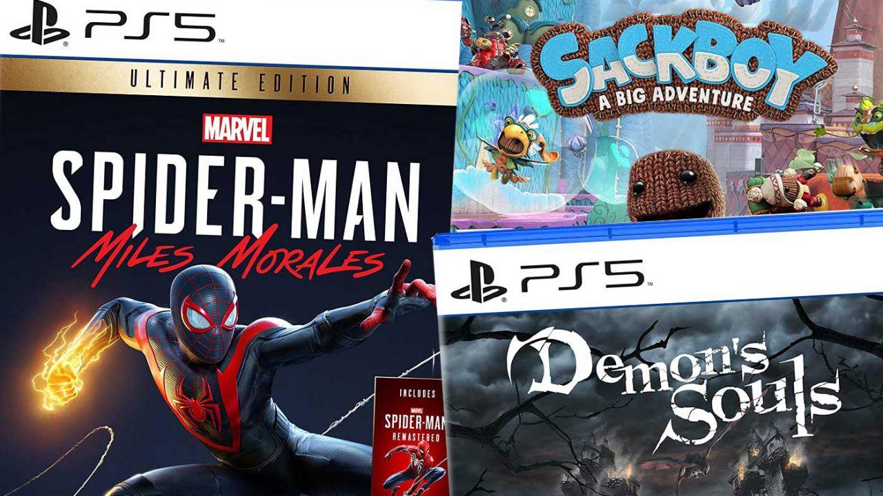 PS5: tutti i giochi in preordine su Amazon, da Demon's Souls a Spider-Man Miles Morales