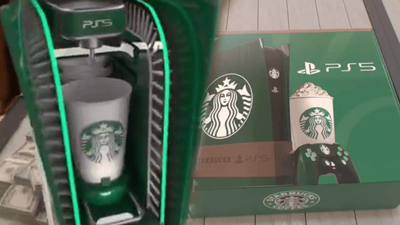 PS5 a tema Starbucks: la console sembra un Transformer nel video fan made