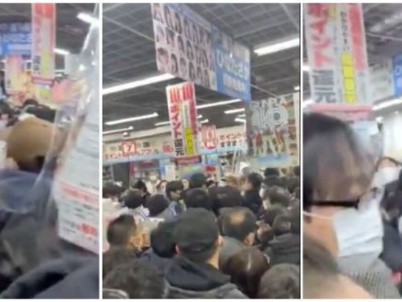 PS5 is back available in Tokyo: shop stormed by an angry crowd