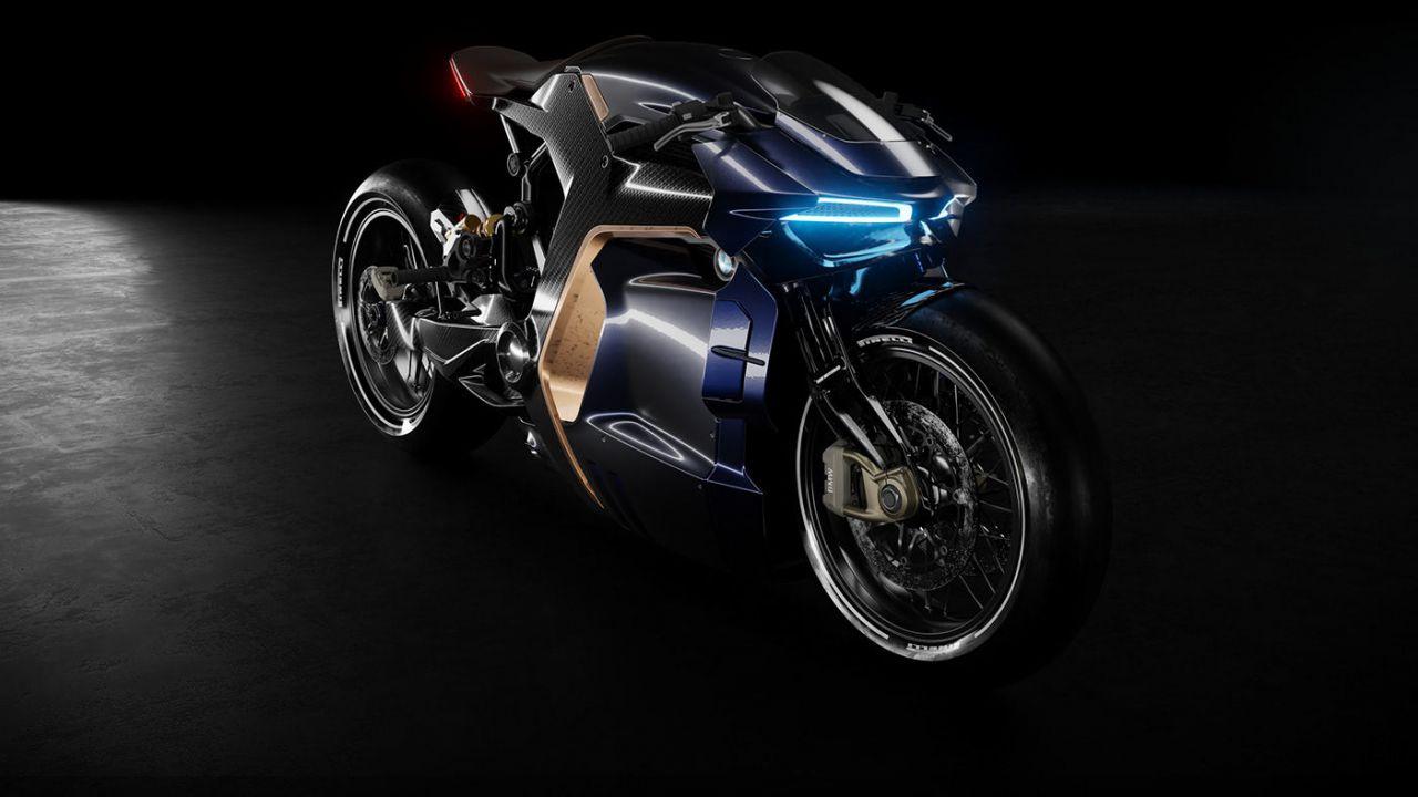 Questa accattivante moto BMW viene direttamente dal futuro