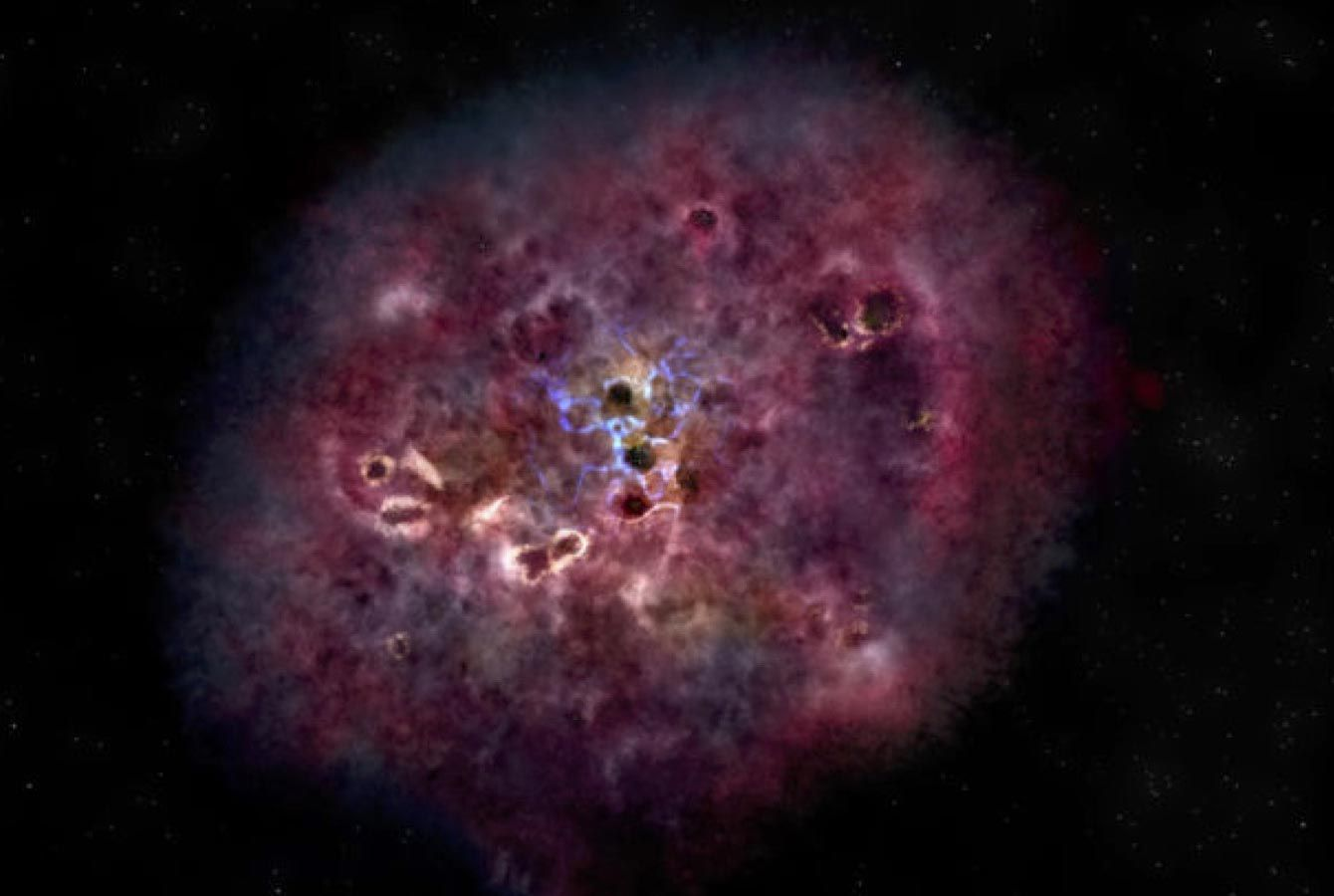 Questa galassia aveva una massa di oltre 300 miliardi di soli nell'Universo primordiale