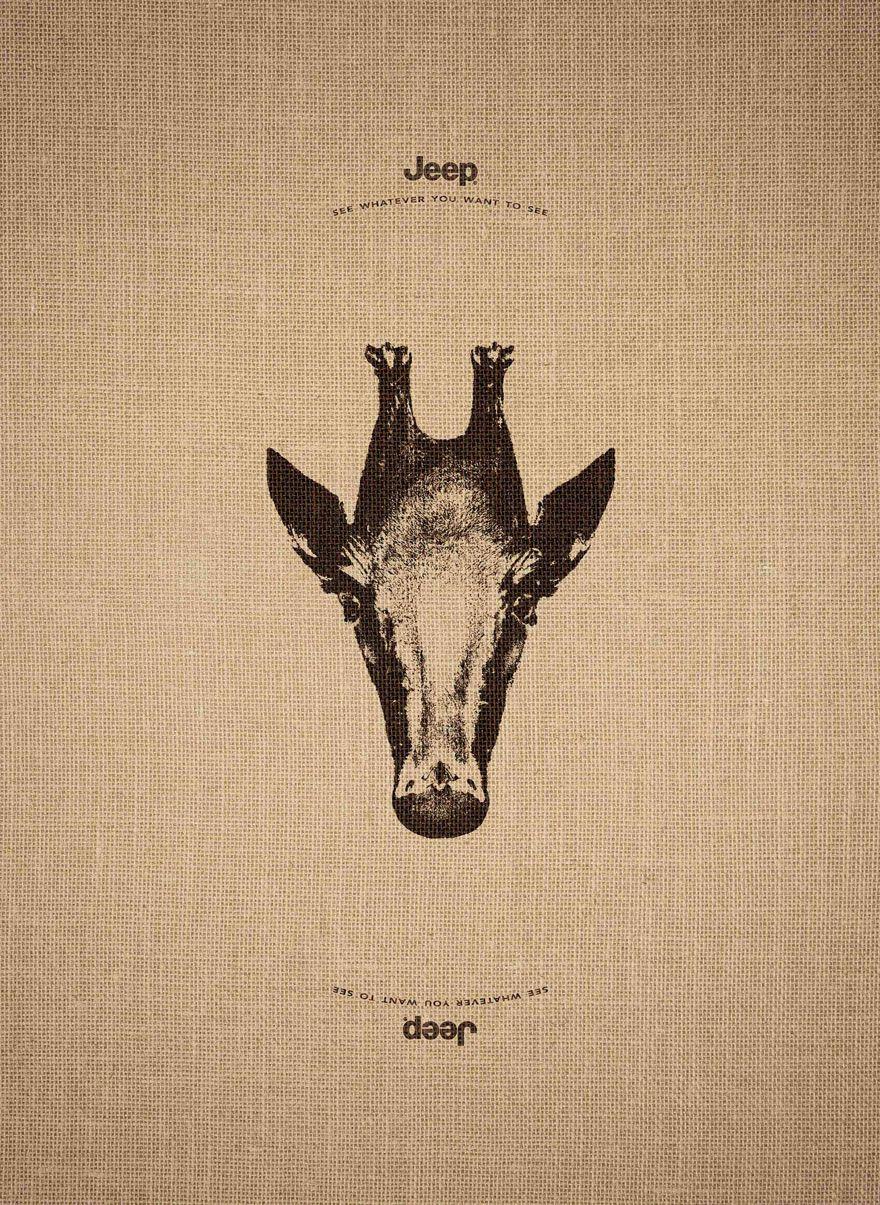 Questa geniale pubblicità usa illusioni ottiche di animali: ecco tutte le immagini