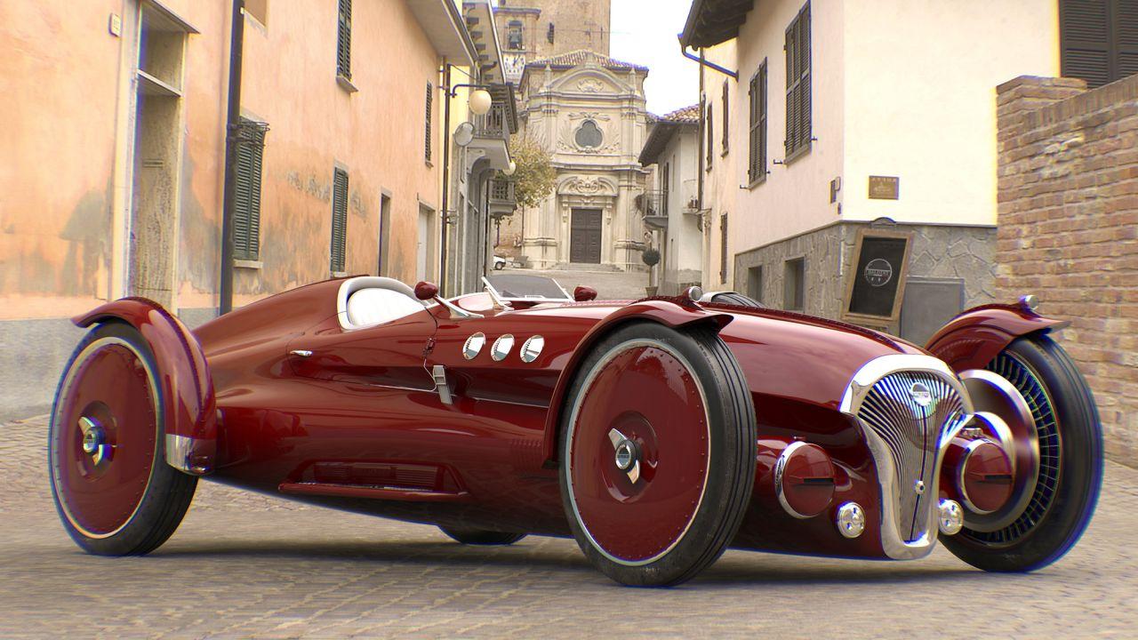 Questa macchina da corsa in stile anni '40 è geniale ed elettrica