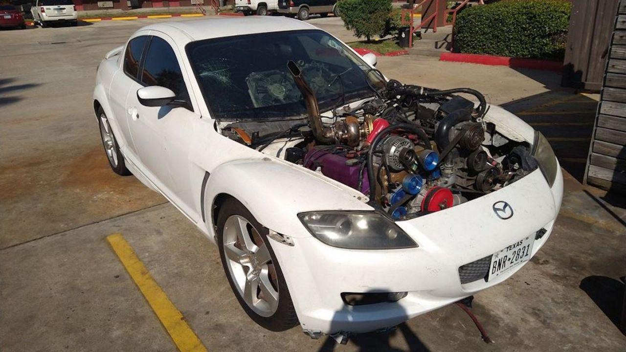 Questa Mazda RX-8 ha ora un motore V8 Turbodiesel ed è vendita