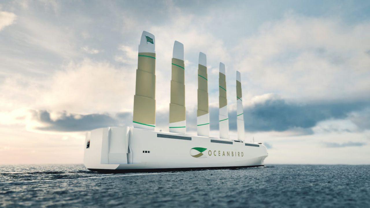 Questa nave trasporta 7000 auto con la sola forza del vento