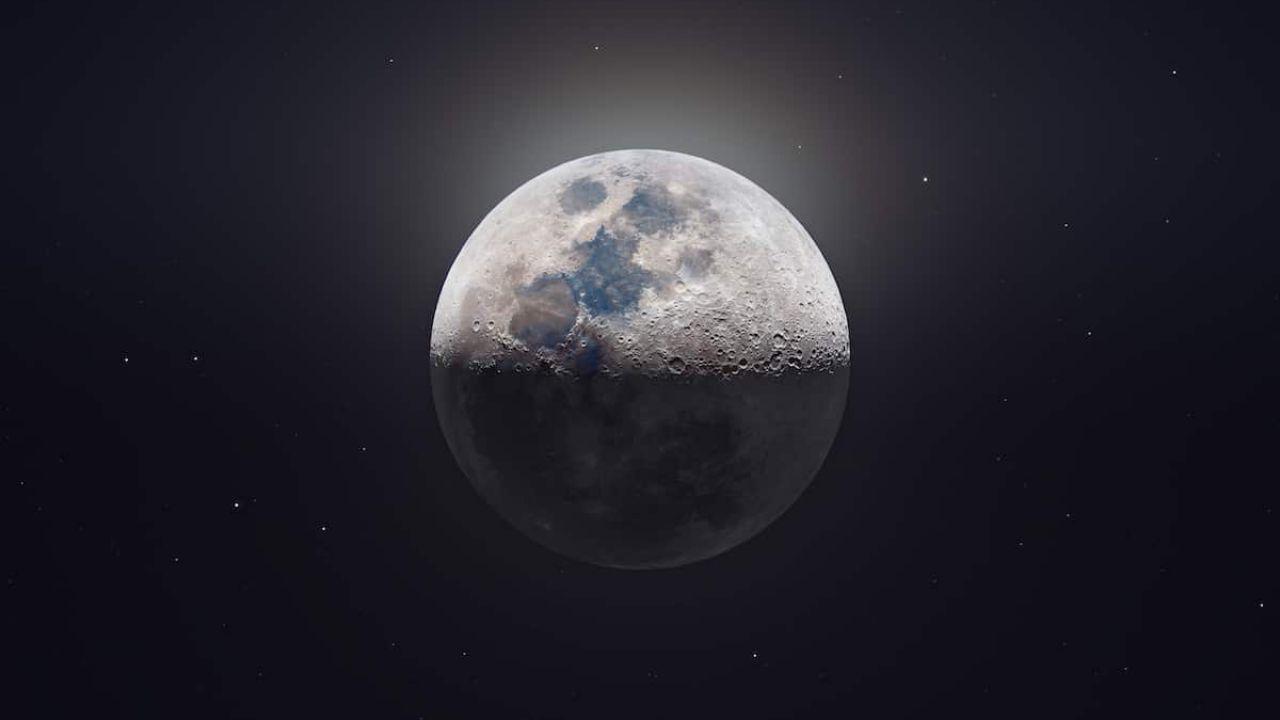 Questa spettacolare foto in Ultra HD della Luna ci permette di vedere anche i crateri