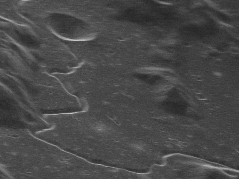 Questa spettacolare immagine della superfice della Luna è stata scattata dalla Terra