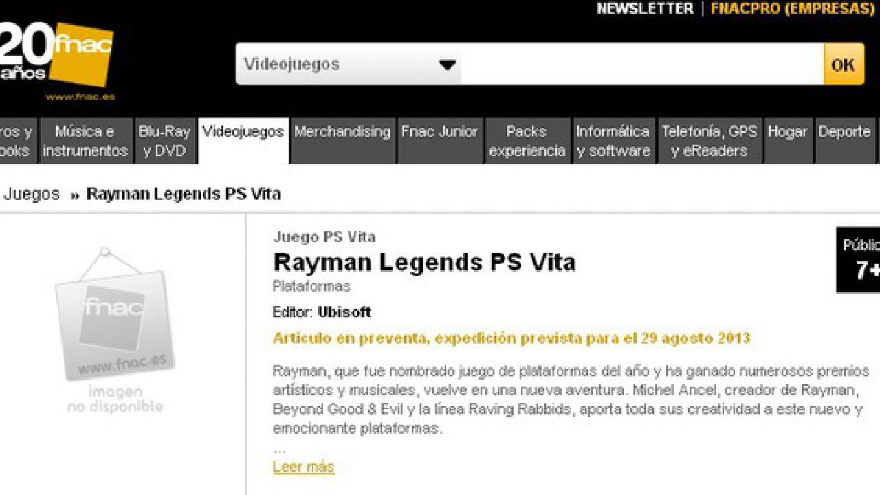 Rayman Legends per PSVita slitta a settembre
