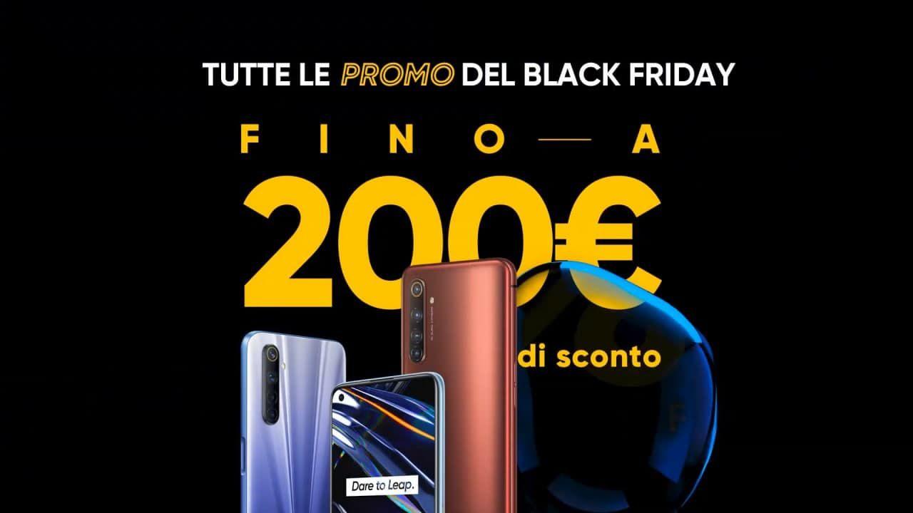 Realme Black Friday, sconti fino a 200 euro sui vari smartphone Android