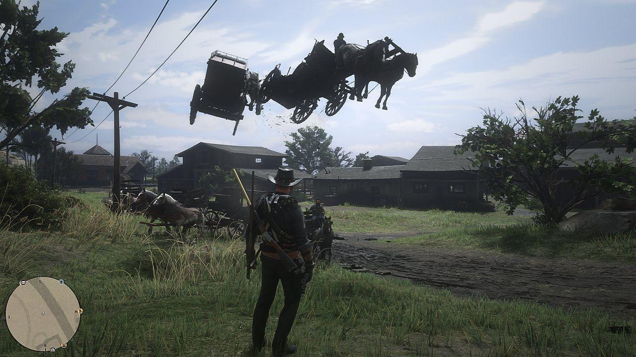 Red Dead Online: cavalli volanti e strani NPC pelati tra i bizzarri bug dell'ultimo update