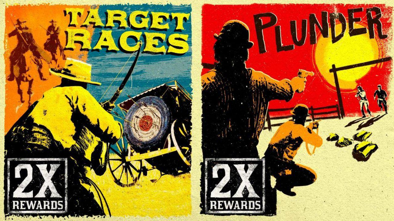 Red Dead Online: RDO$ e PE doppi in Gare al bersaglio e Scorribande