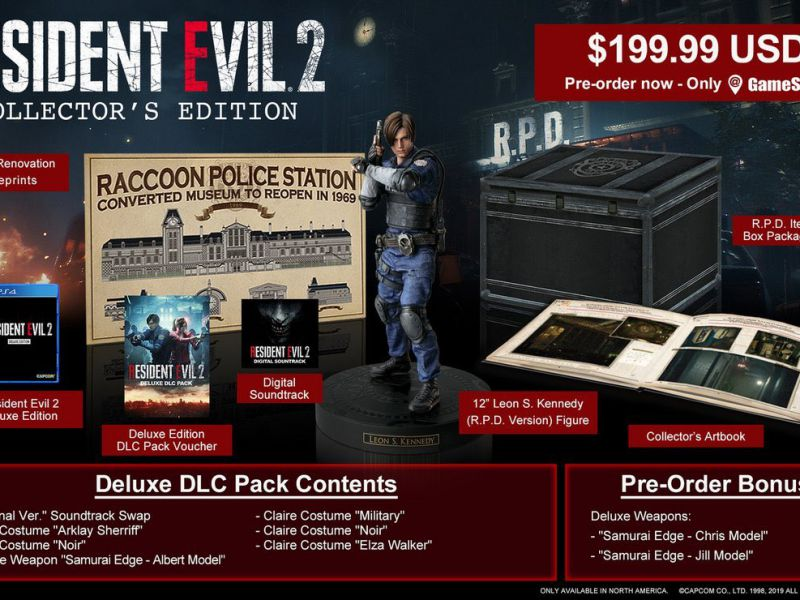 Resident Evil 2: annunciata la Collector's Edition, include la statuetta di Leon
