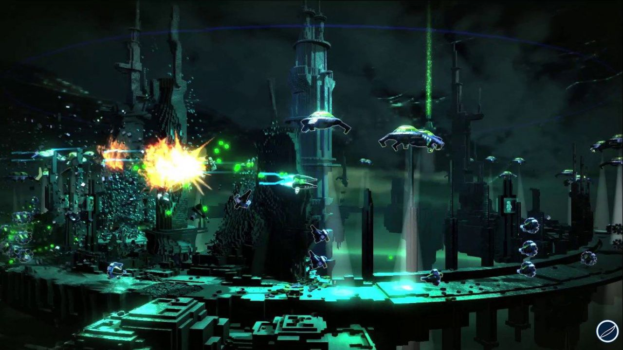 Resogun disponibile per PlayStation 3 e PlayStation Vita