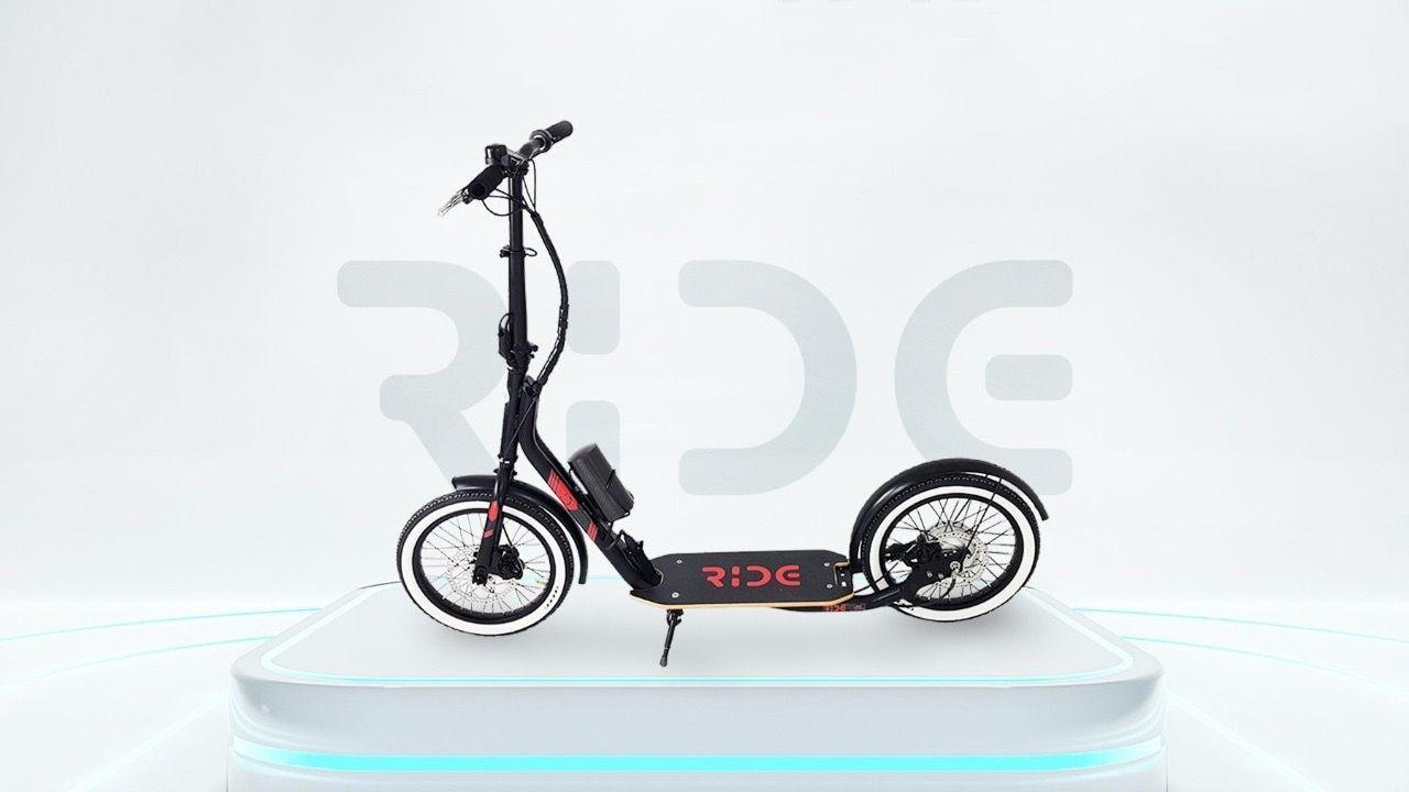 Ride ER16, il monopattino italiano con grandi ruote da 16' e batteria estraibile