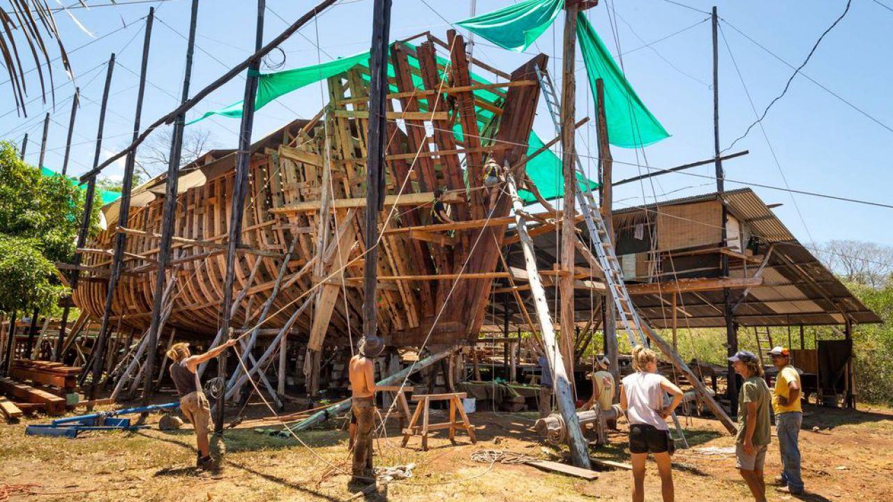 Ritorno al passato: questa nave da carico futuristica è fatta totalmente in legno