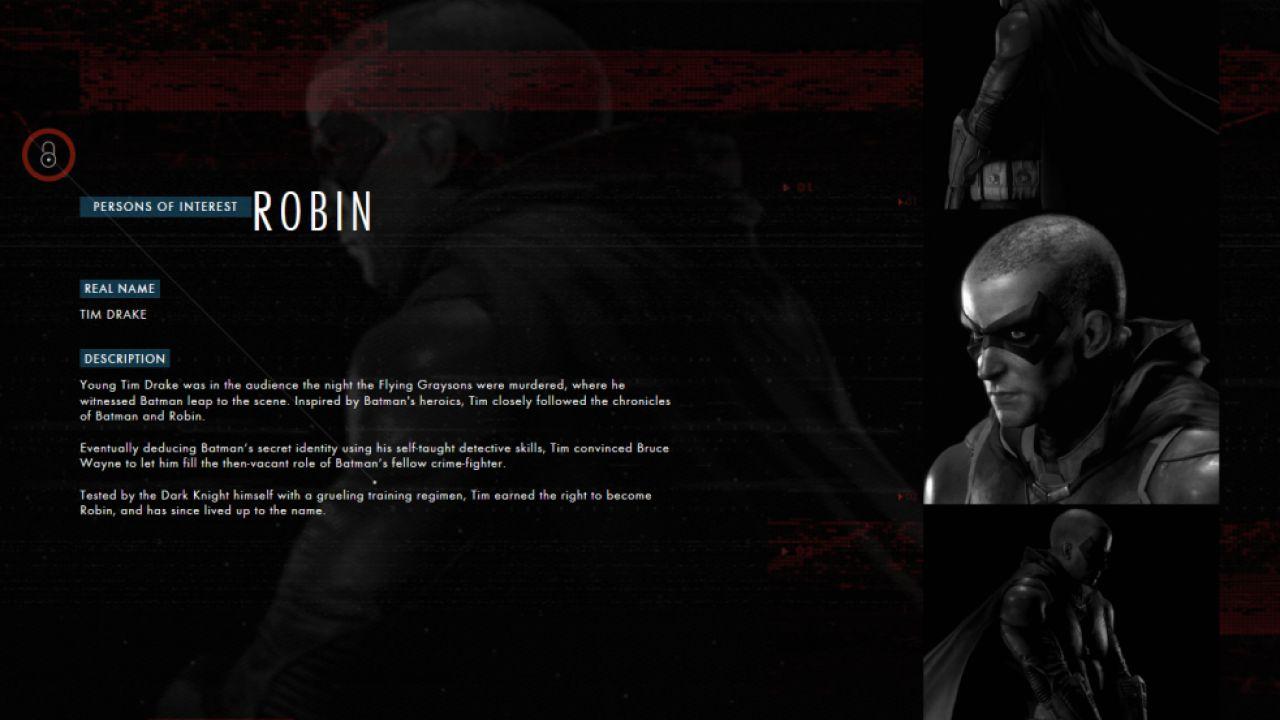 Robin e altri tre personaggi confermati in Batman Arkham Knight