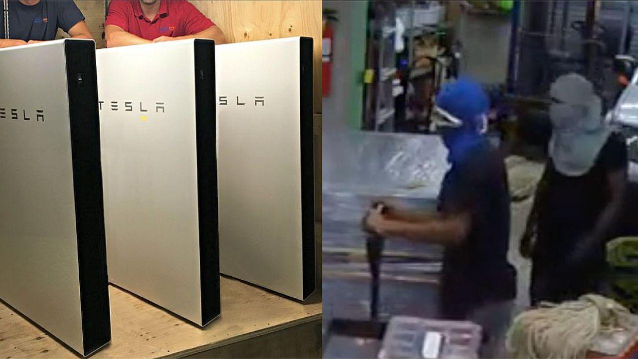 Rubare batterie Tesla non è una buona idea: i ladri lo hanno scoperto a loro spese