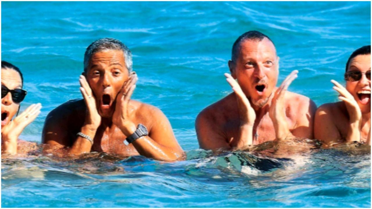 Sanremo 2021, Amadeus e Fiorello indivisibili anche al mare: 'Siamo la coppia dell'estate'
