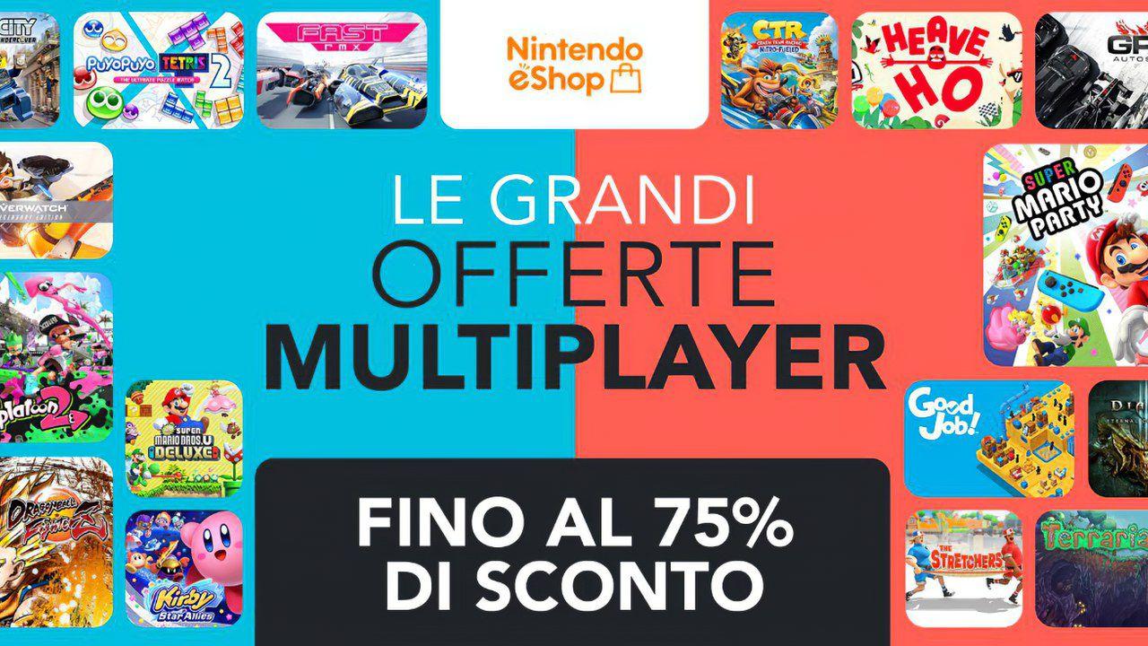 Sconti Nintendo eShop: svelate le Grandi Offerte Multiplayer con sconti sui giochi Switch