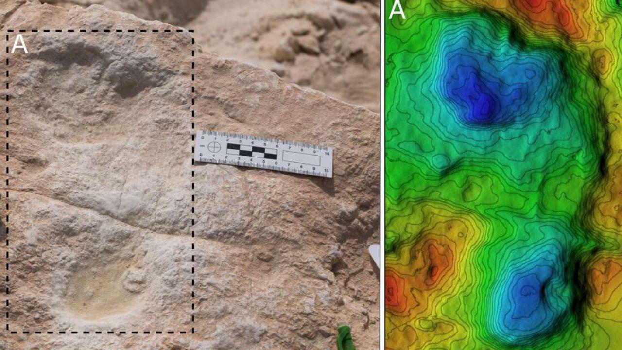 Scoperte le più antiche impronte di Homo sapiens fuori dall'Africa