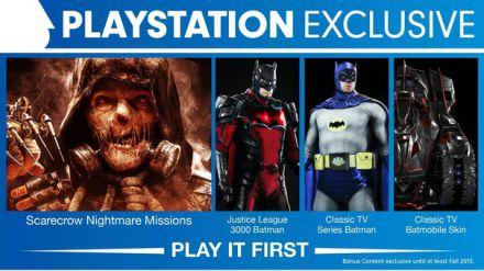 Scopriamo i contenuti esclusivi PlayStation di Batman Arkham Knight