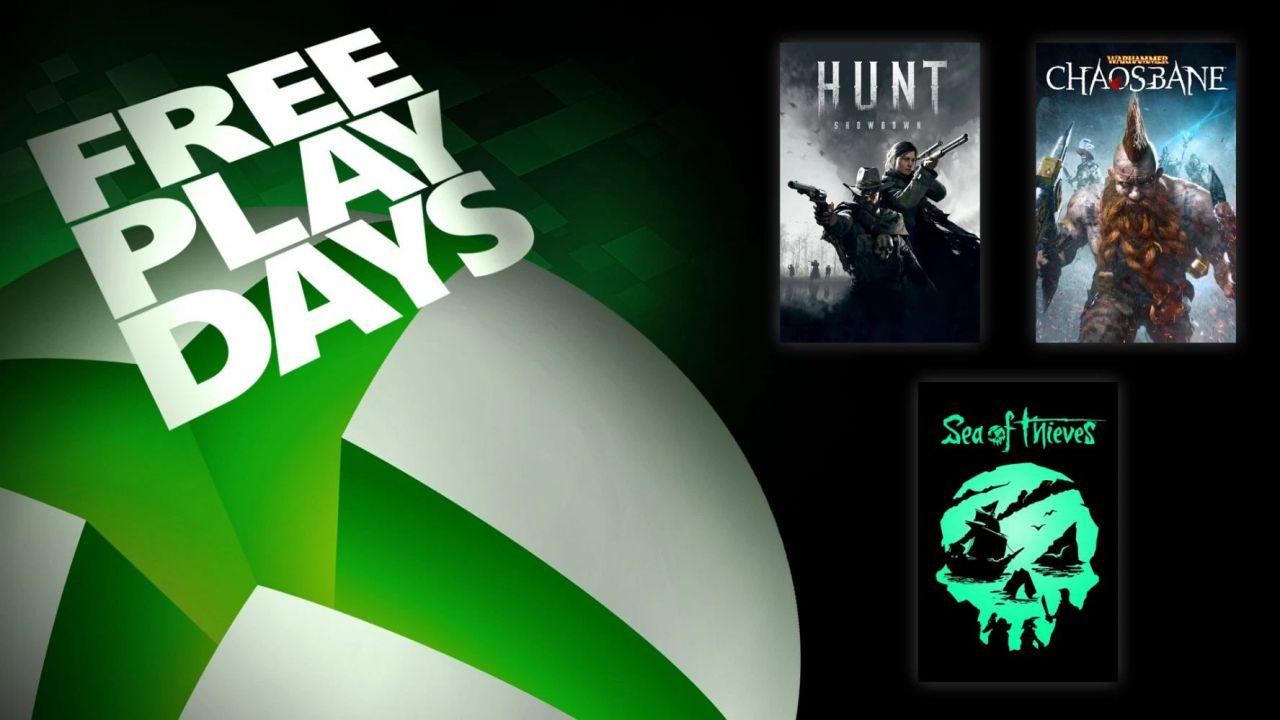 Sea of Thieves e Hunt Showdown tra i giochi gratis del weekend su Xbox One