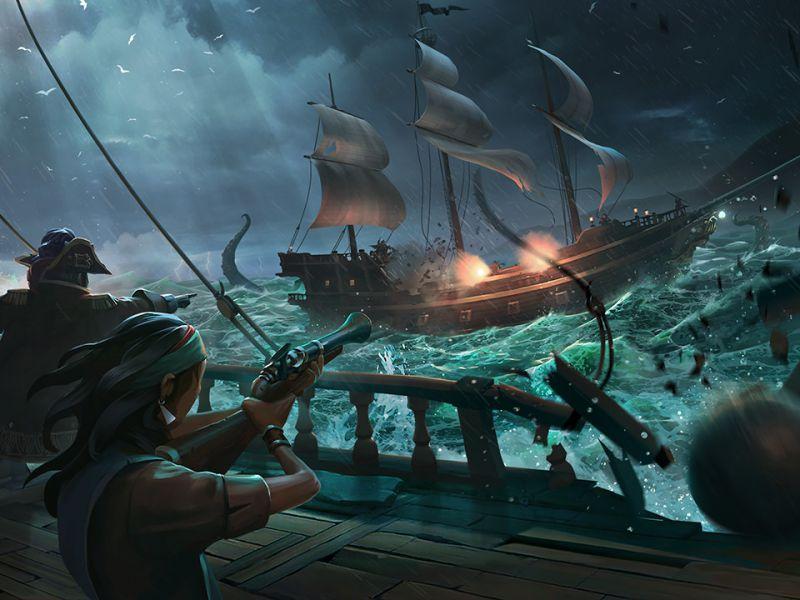 Sea of Thieves: il nuovo trailer è dedicato all'IA degli scheletri