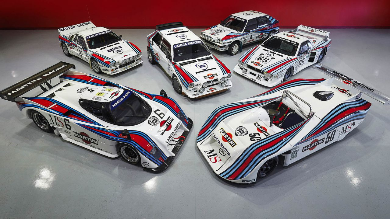 Sei Lancia Martini Racing da brividi nella collezione di John Campion