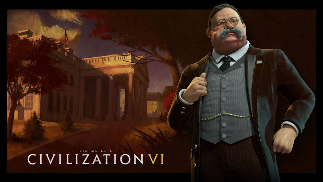 Sid Meier's Civilization VI: Theodore Roosvelt sarà a capo degli Stati Uniti