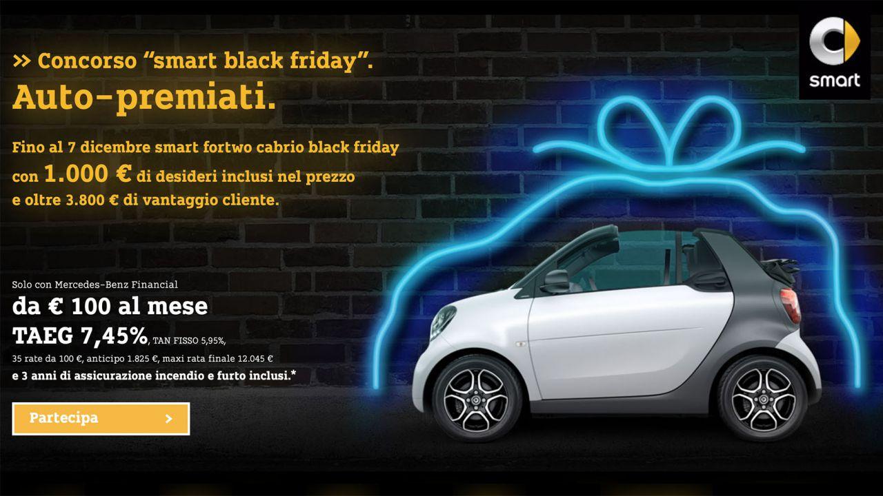 Smart fortwo Black Friday: la special edition che vi regala 1.000 € Amazon