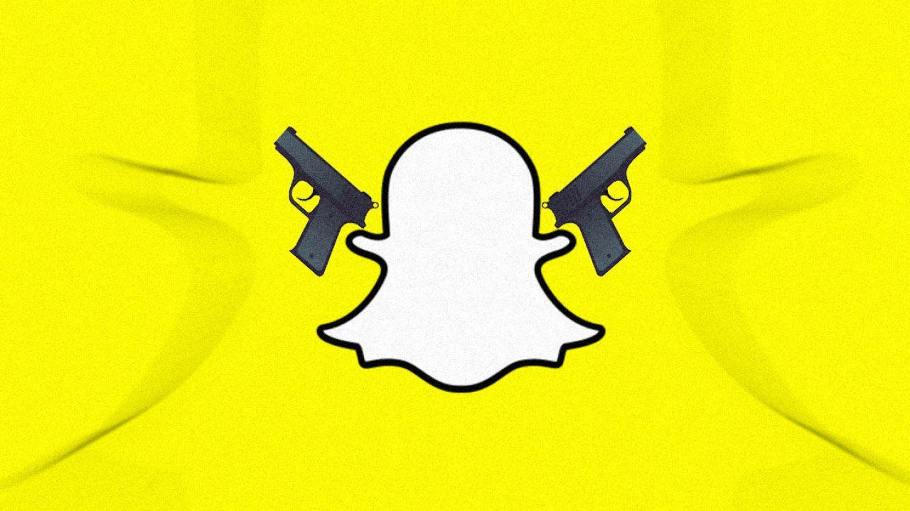 Snapchat al centro di un giro di contrabbando di armi da fuoco