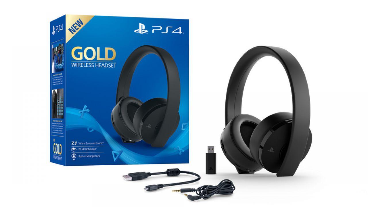 619cc7a335a226 Sony presenta le nuove Cuffie wireless con microfono Gold per PS4 e PS VR