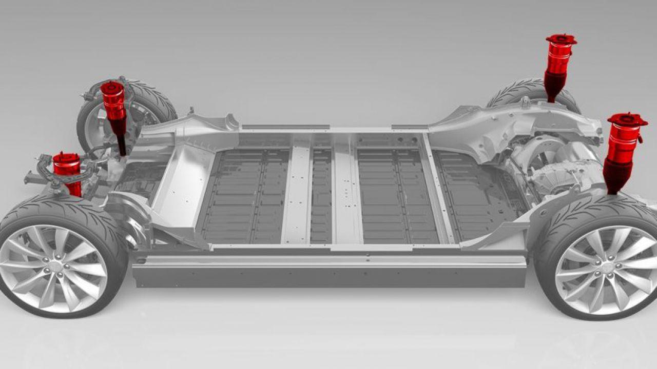 Sospensioni ad aria regolabili per la Tesla Model 3: arriva un leak