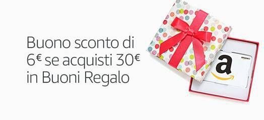 Spendi 30 euro in buoni regalo su e ricevi un for Offerta buoni regalo amazon