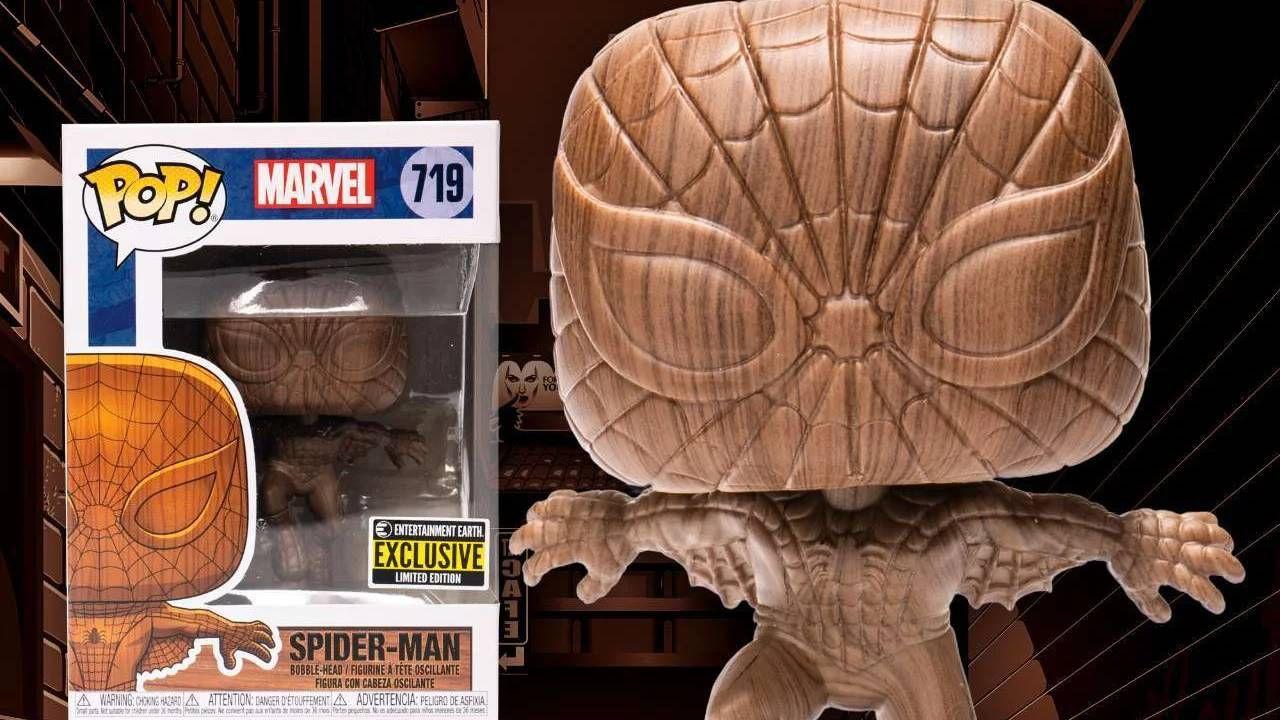 Spider-Man: in arrivo un rarissimo Funko Pop in legno dell'Uomo Ragno