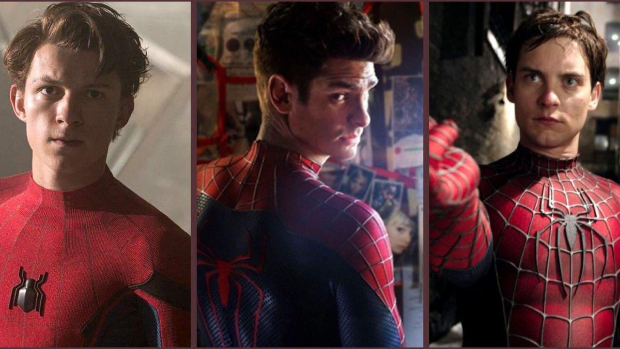 Spider-Man: il poster di Far From Home, ma con Garfield e Maguire al posto di Tom Holland