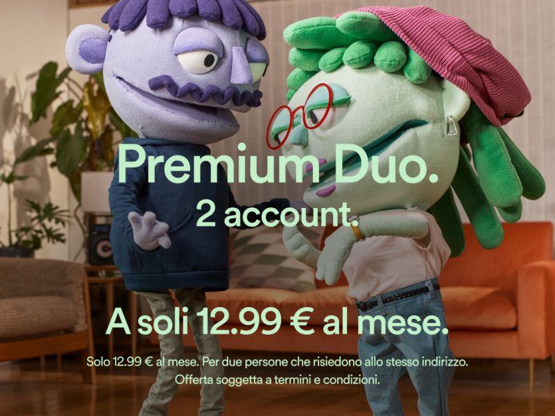 Spotify lancia in Italia Premium Duo, l'abbonamento per le coppie da 12,99 Euro