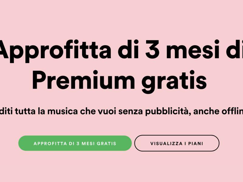 Spotify regala tre mesi di Premium fino al 30 Giugno: come accedere all'offerta