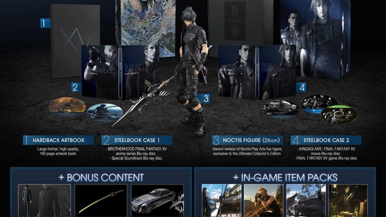 Square Enix produrrà altre Ultimate Collector's Edition di Final Fantasy XV