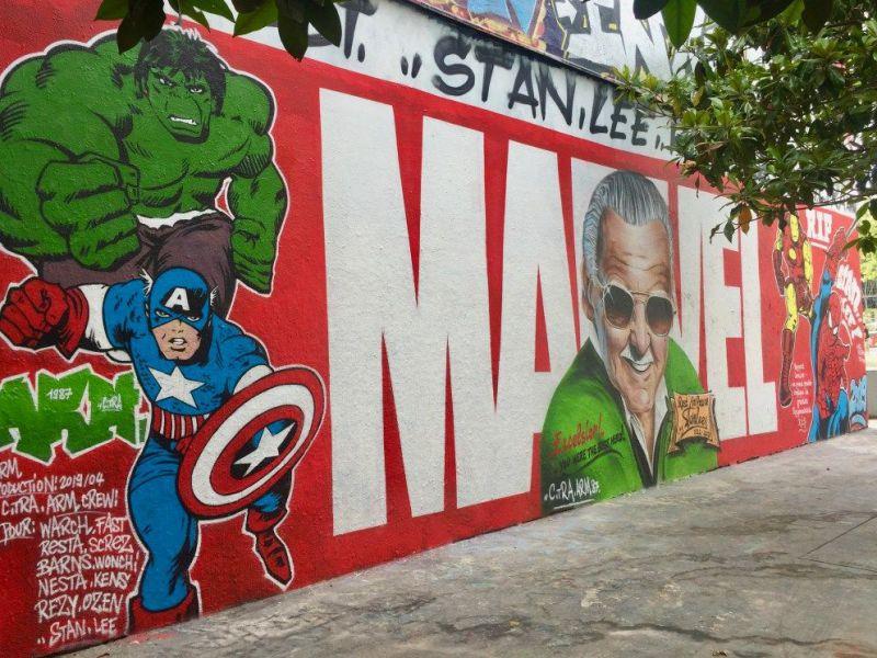 Stan Lee: spunta in rete un commovente murales in tributo all'autore Marvel