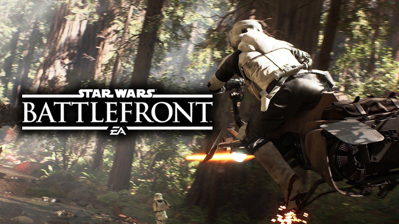 Star Wars Battlefront: sequenza di caccia a bordo dello Speeder Bike