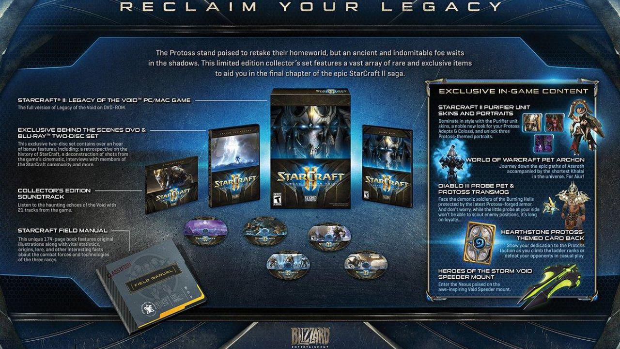 StarCraft 2 Legacy of the Void: svelati i contenuti della Collector's Edition