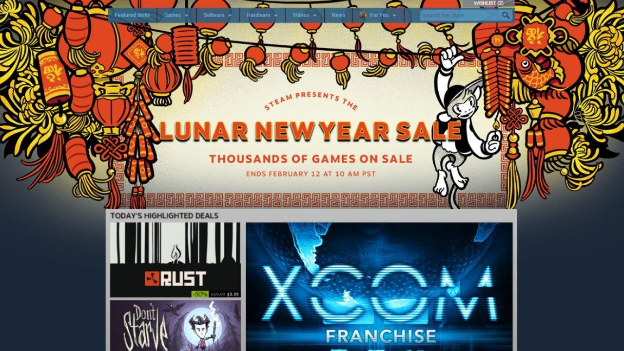 Steam festeggia l'anno lunare con migliaia di titoli scontati
