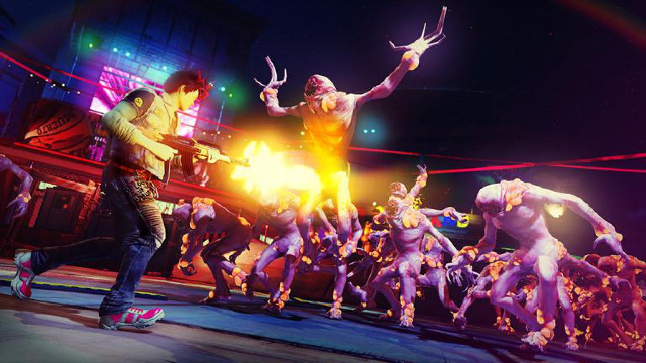Sunset Overdrive: video gameplay off-screen