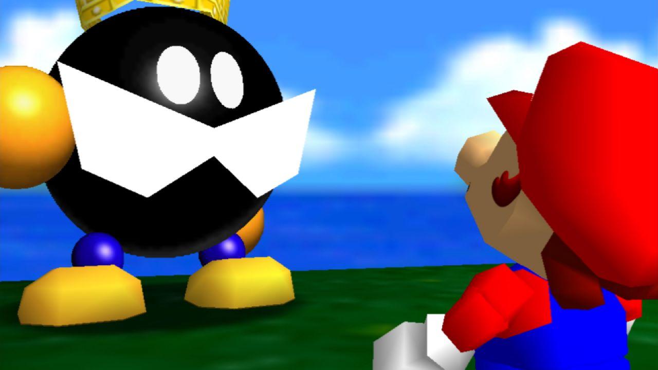 Super Mario 3D All-Stars: la boss fight con Re Bob-omba in Super Mario 64