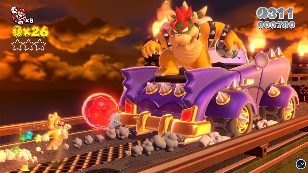 Super Mario 3D World: video confronto con Super Mario Galaxy