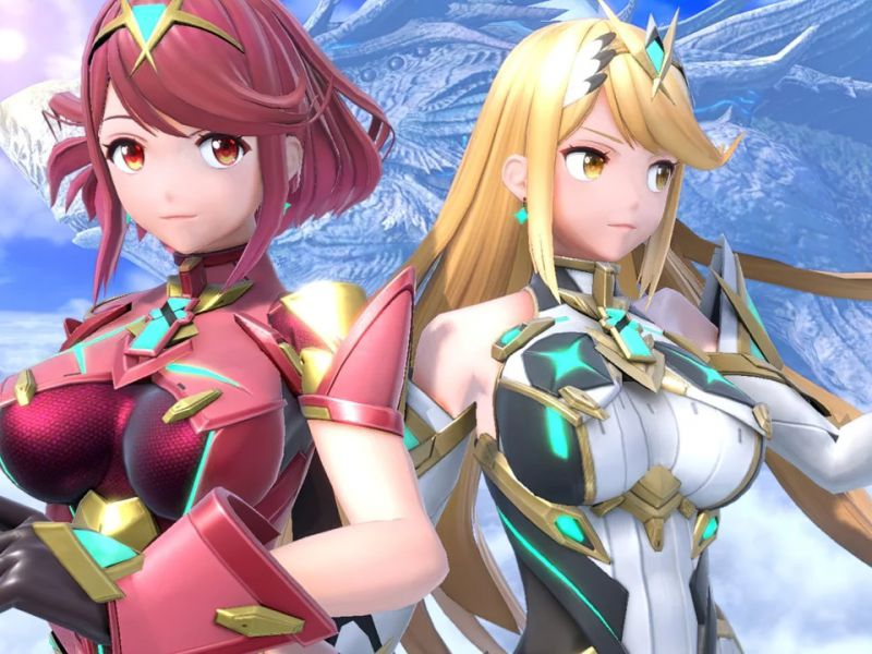 Super Smash Bros Ultimate: Pyra and Mythra fight in the gameplay video