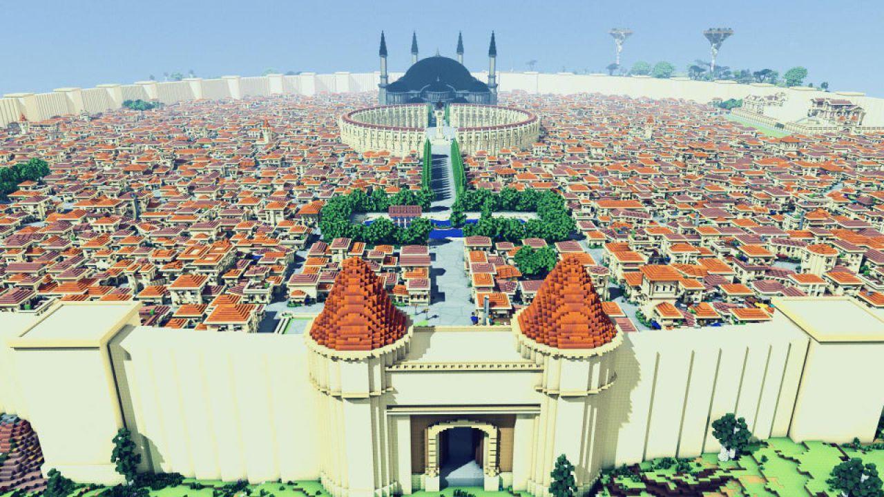 Sword Art Online: un fan ha ricreato su Minecraft l'intera 'Città dell'Inizio'