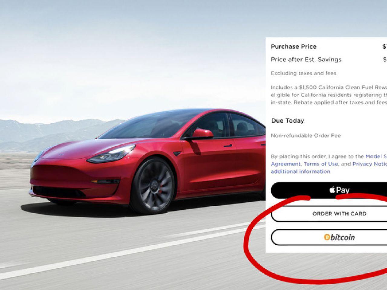 Comprare Tesla con Bitcoin: da oggi si può (ma solo in Usa)