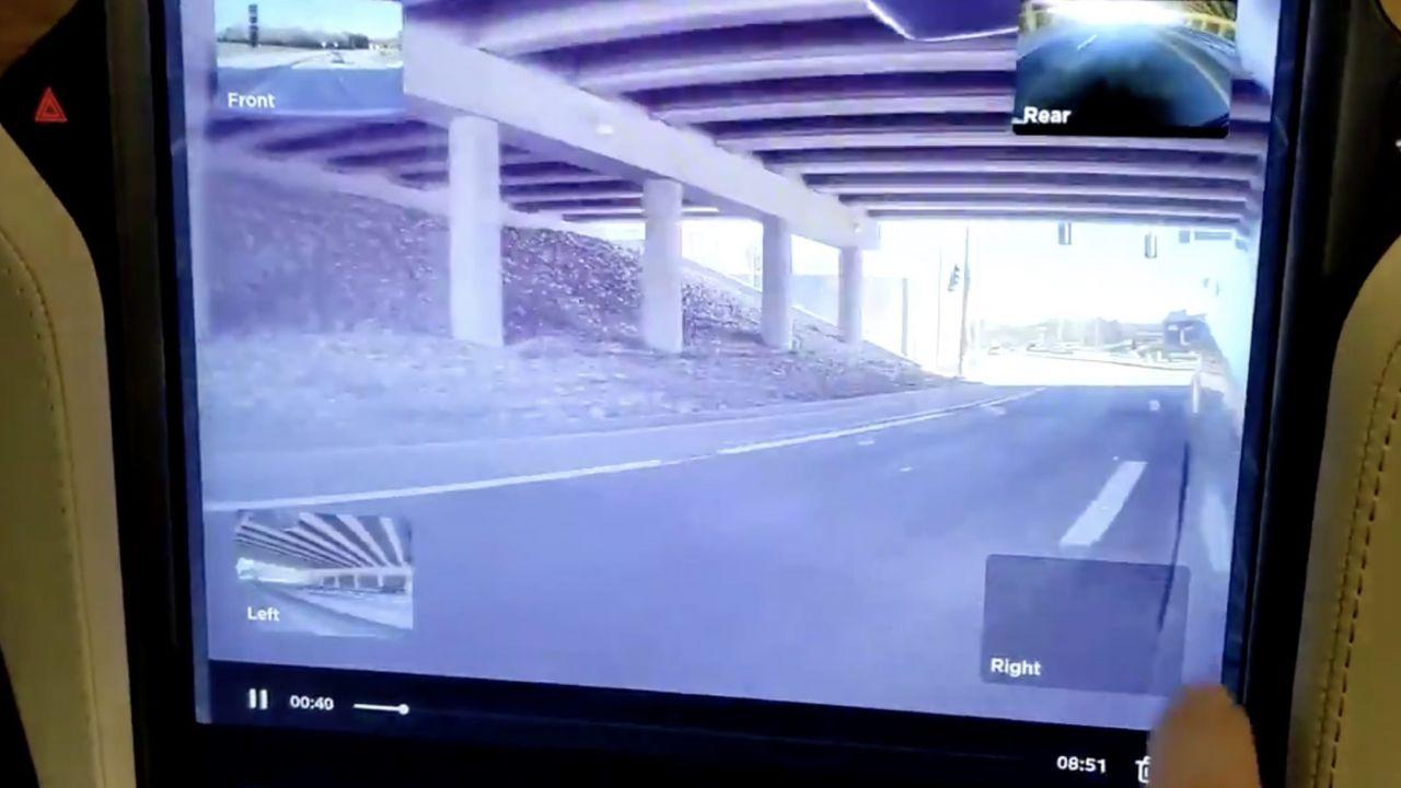 Tesla aggiorna il visore della Modalità Sentinella e della Dashcam, il video